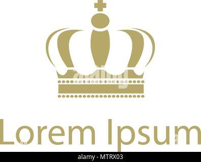 Gold King Crown Logo - Stockfoto