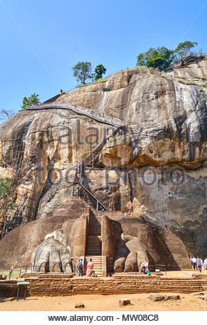 Lions paw in Sigiriya Felsen, Matale Distrikt, Sri Lanka - Stockfoto