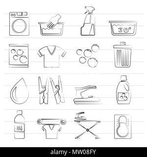 w sche zeichen silhouette symbole stockfoto bild 168645372 alamy. Black Bedroom Furniture Sets. Home Design Ideas