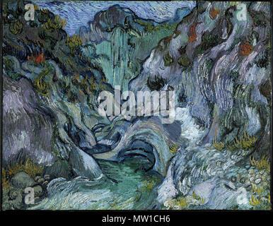 . Schlucht. Englisch: 73 x 91,7 cm (28 3/4 x 36 1/8 in.) Öl auf Leinwand, Museum der Bildenden Künste, Boston, Sammlung, die früher in der AMICO Bibliothek. 1889. Vincent van Gogh Niederländisch, (in Frankreich), 1853-1890, Europäische; Niederländisch 512 Schlucht - Vincent Van Gogh - Stockfoto