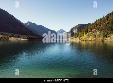 Plansee, Ammergauer Alpen, Tirol, Österreich - Stockfoto