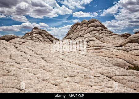 """Blick auf die geologische Formation White Pocket"""" in Arizona - Stockfoto"""