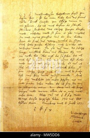 Englisch Autogramm Schreiben Von Martin Luther Im Brief Sammlung