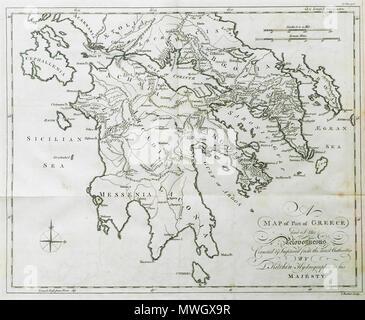 Griechenland Peloponnes Karte Deutsch.Deutsch Karte Der Teil Von Griechenland Und Der Peloponnes Krämer