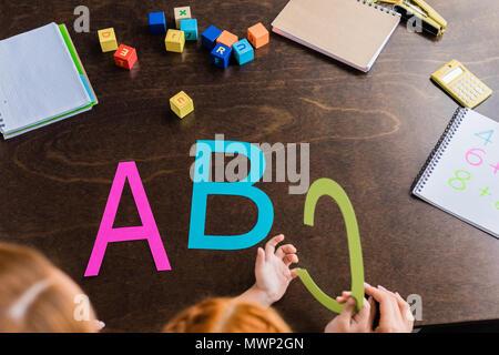 alphabet buchstaben abgeschnitten stockfoto, bild: 47847141 - alamy