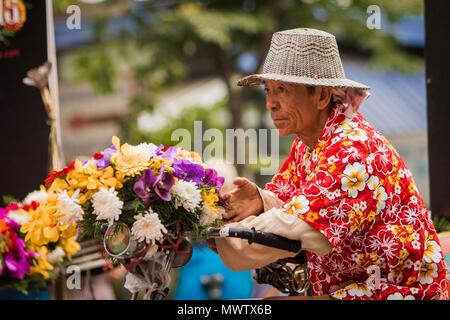 Chiang Mai Flower Festival 2018, Chiang Mai, Thailand, Südostasien, Asien - Stockfoto