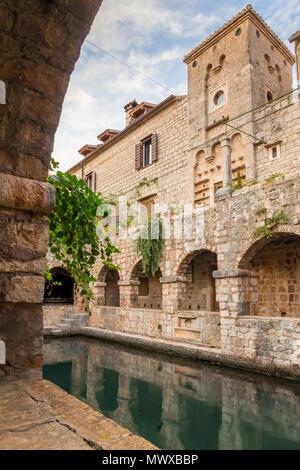 Innerhalb der Tvrdalj Schloss in der Altstadt von Stari Grad auf der Insel Hvar, Kroatien, Europa - Stockfoto