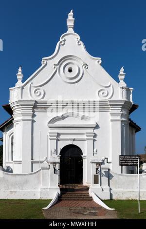 Die Niederländische Reformierte Kirche Im historischen Galle Fort, UNESCO-Weltkulturerbe, Sri Lanka, Asien - Stockfoto
