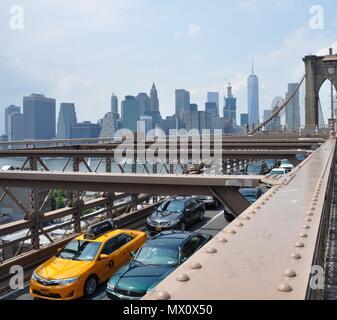Blick von der Brooklyn Bridge, New York - Stockfoto