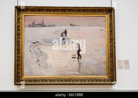. Skater. Dies ist eine Datei im Museum erstellt: Museum der Schönen Künste in Gent. 30 Juli 2016, 13:49:17. Adrian Geschichte 186 Emile Claus-Skater - Stockfoto