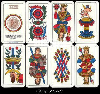 Englisch Italienisch Spielkarten Bergamo Deck Stil Von Links Nach