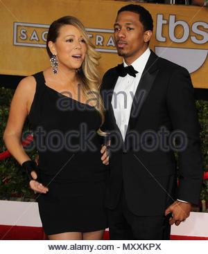 Mariah Carey und Ehemann Nick Cannon. Nicht nur JARED NUTZUNG<BR />20. jährlichen Screen Actors Guild Awards roten Teppich. *** Keine tägliche Post Sales *** - Stockfoto