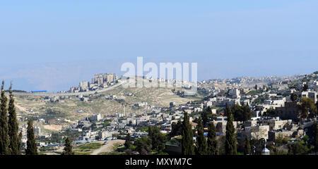 Israelische West Bank Barrier Wand in Ost-jerusalem. - Stockfoto