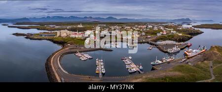 Stykkisholmur, Snaefellsnes, Island - Stockfoto