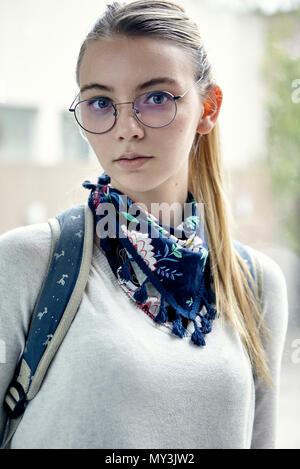 Studentin, portrait - Stockfoto