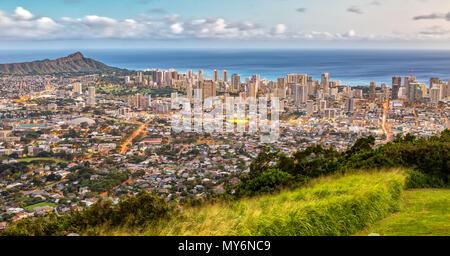 Aus dem Tentalus Honolulu, Oahu, Hawaii - Stockfoto