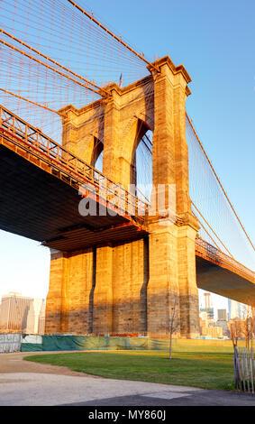 New York City - Brooklyn Bridge, USA Stockfoto