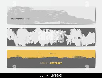 Abstract Grunge Banner-Vorlagen Vektor Abbildung - Bild: 138501113 ...