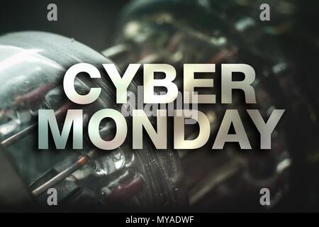 Cyber Monday Poster. Abstrakte Röhren Hintergrund - Stockfoto