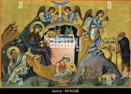 Menologion von Basil II. Weihnachten. 11. Jahrhundert. Anonym 412 ...