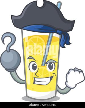 Pirate Limonade Charakter Cartoon Stil - Stockfoto
