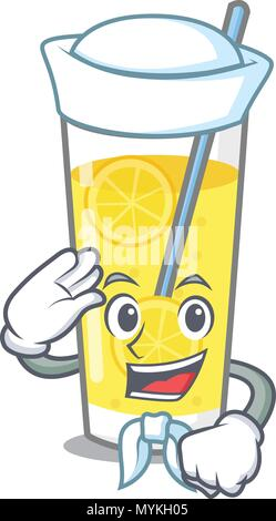 Sailor Limonade Charakter Cartoon Stil - Stockfoto