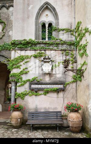 Villa Cimbrone, Ravello, Amalfi, Kampanien, Italien, Europa - Stockfoto