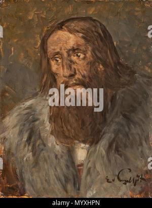 28 Eduard von Gebhardt Bildnis eines bärtigen Mannes - Stockfoto
