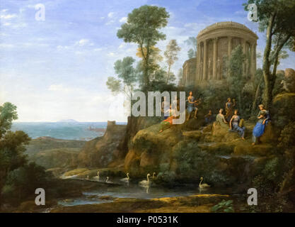 Apollo und die Musen auf dem Berg Helicon, Claude Lorrain, 1680, Museum der Bildenden Künste, Boston, Mass, USA, Nordamerika - Stockfoto