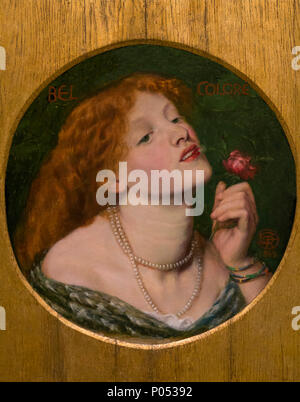 Belcolore, Dante Gabriel Rossetti, 1863, Museum der Bildenden Künste, Boston, Mass, USA, Nordamerika - Stockfoto