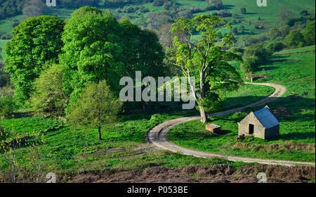 Dudwood Farm Lane unter Harthill Moor (2) - Stockfoto