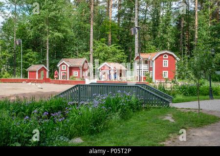 Astrid Lindgrens Welt in Vimmerby. Dies ist ein beliebter Themenpark in Schweden auf der Grundlage der Märchen und Geschichten von Astrid Lindgren. - Stockfoto