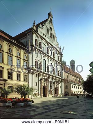 michaelskirche jesuitenkirche st michael altstadt m nchen oberbayern bayern deutschland. Black Bedroom Furniture Sets. Home Design Ideas