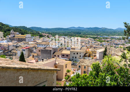 Capdepera - historisches Dorf in der wunderschönen Landschaft von Mallorca, Spanien - Stockfoto