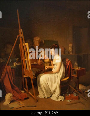"""Studio einer Frau Artist"""" (1800) von Louis Leopold Boilly (1761-1845), Öl auf Leinwand, im Puschkin-museum, Moskau ausgestellt. - Stockfoto"""