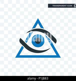 Dritte Auge vektor Icon auf transparentem Hintergrund isoliert, drittes Auge logo Konzept - Stockfoto