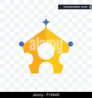 Königliche familie Vektor Icon auf transparentem Hintergrund isoliert, königlichen Familie logo Konzept - Stockfoto