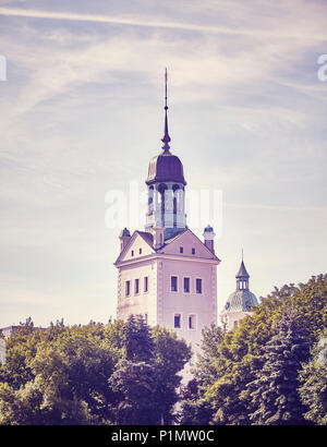 Retro getonten Bild von Schloss der Pommerschen Herzöge in Stettin Stadt (Stettin), Polen. - Stockfoto