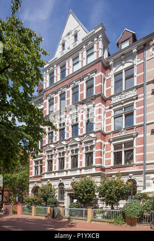 Altes Wohnhaus im klassischen Stil in Körtingstrasse, Hannover, Niedersachsen, Deutschland, Europa ich altes Wohnhaus in der Körtingstraße, Hannover, N - Stockfoto