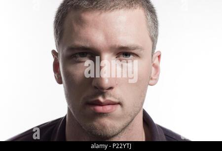 Doppelte Belichtung Porträt eines jungen Mannes und die Sanddünen in der Wüste - Stockfoto