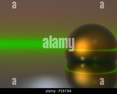 Computer Generated Image-reflektierenden Kugel auf einer abstrakten Hintergrund - Stockfoto