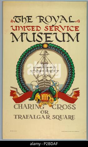 Englisch Poster Dem Royal United Service Museum Für Die Londoner