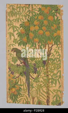 Englisch: Seitenwand, Ara, 1908. Englisch: Ara auf einem