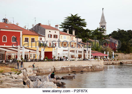 Europa, Kroatien, Istrien, Novigrad - Stockfoto