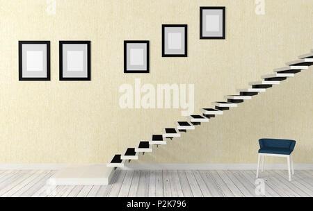 treppe in minimalistischem stil bilder, holz treppe im loft stil stockfoto, bild: 163942921 - alamy, Design ideen