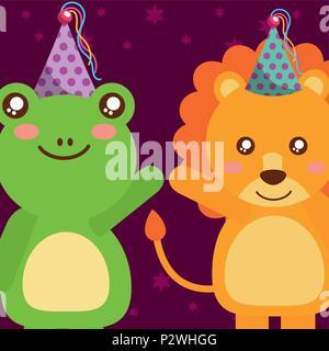 Niedliche Tier alles Gute zum Geburtstag - Stockfoto