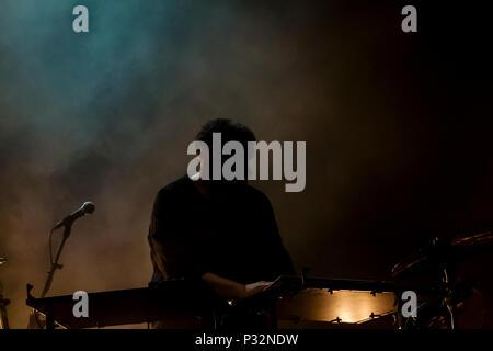 Barcelona, Catalonia, Spanien. 15 Juni, 2018. SONAR Festival. Bonobo (UK), führt live im SonarClub Bühne, bei der 25 Sonar Festival in Barcelona. Credit: Cisco Pelay/Alamy leben Nachrichten - Stockfoto