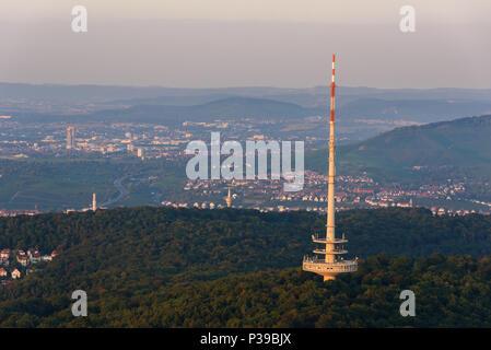 Telekommunikation Antenne Tower in Stuttgart, Deutschland - Stockfoto