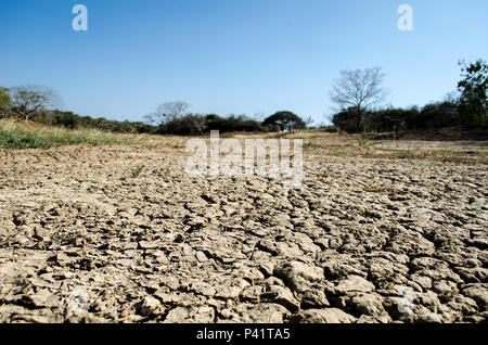 Auswirkungen der Dürre in Los Santos, einer Provinz im Trockenen Arch Bereich Panama - Stockfoto