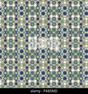 Tribal nahtlose Muster. Islamische Textur. Marokkanische Wandfliesen. Zellige vector Hintergrund. - Stockfoto